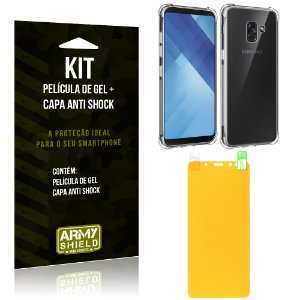 Kit Galaxy A8 Capa Anti Shock + Película de Gel - Armyshield