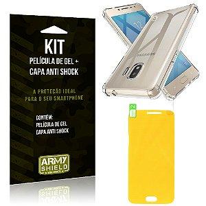 Kit Galaxy J2 Pro 2018 Capa Anti Shock + Película de Gel - Armyshield