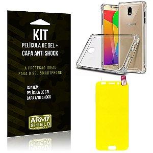 Kit Galaxy J5 Pro 2017 Capa Anti Shock + Película de Gel - Armyshield
