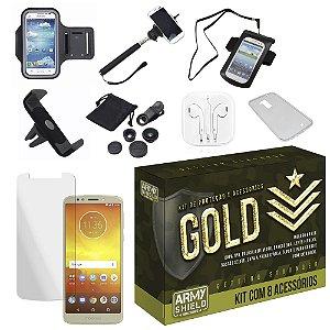 Kit Gold Moto E5 Play com 8 Acessórios - Armyshield