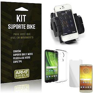 Kit Suporte Moto Bike Moto E5 Play Suporte + Película + Capa - Armyshield