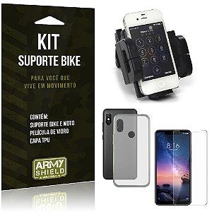 Kit Suporte Moto Bike Xiaomi Redmi Note 6 Pro Suporte + Película + Capa - Armyshield