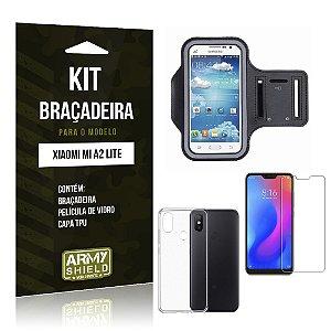 Kit Braçadeira Xiaomi Mi A2 Lite (Redmi 6 Pro) Braçadeira + Película + Capa - Armyshield