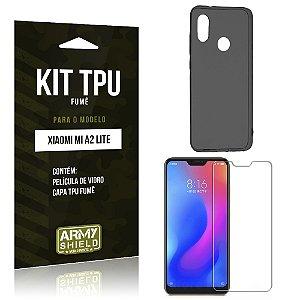 Kit Capa Fumê Xiaomi Mi A2 Lite (Redmi 6 Pro) Película + Capa Fumê - Armyshield