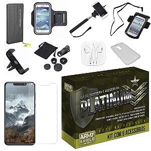 Kit Platinum Tipo C Motorola One com 9 Acessórios - Armyshield