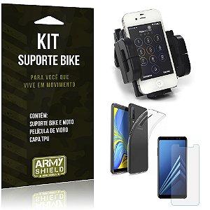 Kit Suporte Moto Bike Galaxy A7 2018 Suporte + Película + Capa - Armyshield