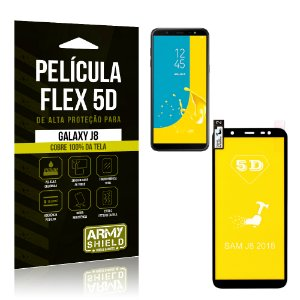 Película Flex 5D Cobre a Tela Toda Samsung Galaxy J8 Preta - Armyshield