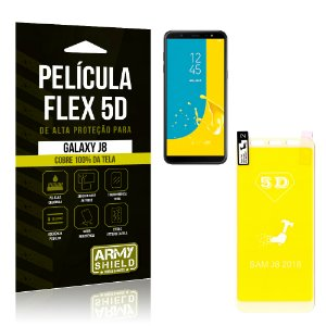 Película Flex 5D Cobre a Tela Toda Samsung Galaxy J8 Branca - Armyshield