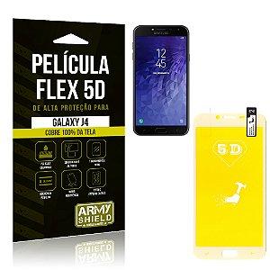 Película Flex 5D Cobre a Tela Toda Samsung Galaxy J4 Branca - Armyshield