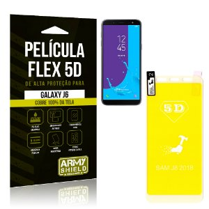 Película Flex 5D Cobre a Tela Toda Samsung Galaxy J6 Branca - Armyshield