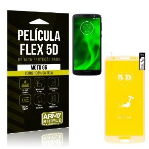 Película Flex 5D Cobre a Tela Toda Motorola Moto G6 Branca - Armyshield