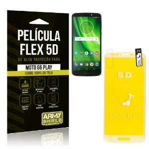 Película Flex 5D Cobre a Tela Toda Motorola Moto G6 Play Branca - Armyshield