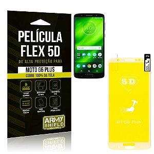 Película Flex 5D Cobre a Tela Toda Motorola Moto G6 Plus Branca - Armyshield
