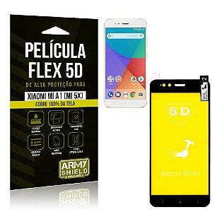 Película Flex 5D Cobre a Tela Toda Xiaomi Mi A1 (Mi 5X) Preta - Armyshield