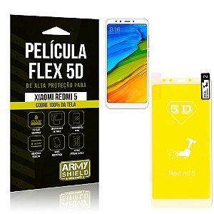 Película Flex 5D Cobre a Tela Toda Xiaomi Redmi 5 Branca - Armyshield