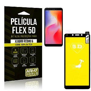 Película Flex 5D Cobre a Tela Toda Xiaomi Redmi 6 Preta - Armyshield