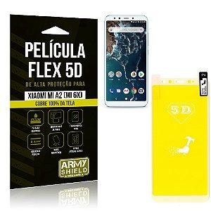 Película Flex 5D Cobre a Tela Toda Xiaomi Mi A2 (Mi 6X) Branca - Armyshield
