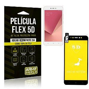 Película Flex 5D Cobre a Tela Toda Xiaomi Redmi Note 5A Preta - Armyshield