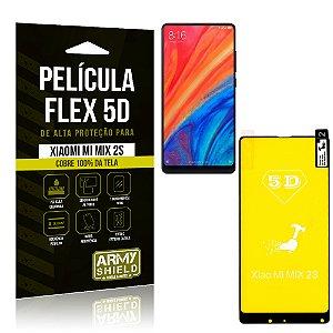 Película Flex 5D Cobre a Tela Toda Xiaomi Mi Mix 2S Preta - Armyshield