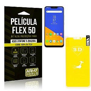 Película Flex 5D Cobre a Tela Toda Asus Zenfone 5 ZE620KL Branca - Armyshield