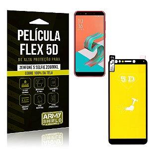 Película Flex 5D Cobre a Tela Toda Asus Zenfone 5 Selfie ZC600KL Preta - Armyshield