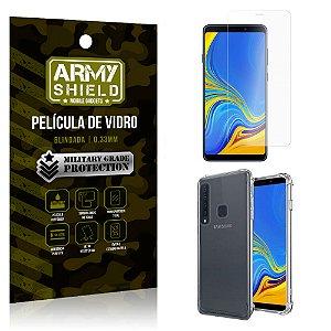 Kit Capa Anti Shock Samsung Galaxy A9 2018 com Capa + Película de Vidro - Armyshield
