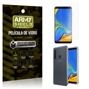 Kit Capa Anti Impacto Samsung Galaxy A9 2018 com Capa + Película de Vidro - Armyshield