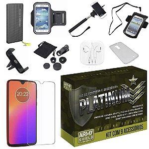 Kit Platinum Tipo C Moto G7 Plus com 9 Acessórios - Armyshield
