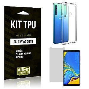 Kit Capa Silicone Samsung Galaxy A9 2018 Capa de Silicone + Película de Vidro - Armyshield