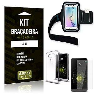 Kit Braçadeira LG  G5 Braçadeira + Capa + Película de Vidro - Armyshield