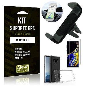 Kit Suporte Veicular Samsung Galaxy Note 9 Suporte + Capa + Película de Vidro - Armyshield