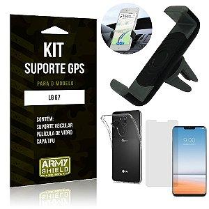 Kit Suporte Veicular LG  G7 Suporte + Capa + Película de Vidro - Armyshield