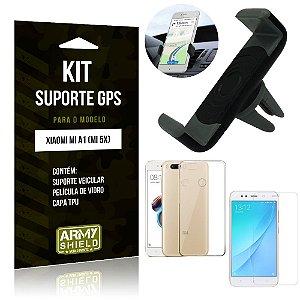 Kit Suporte Veicular Xiaomi Mi A1 Suporte + Capa + Película de Vidro - Armyshield