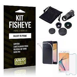 Kit Fisheye Samsung Galaxy J5 Prime Lente Fisheye + Capa + Película de Vidro - Armyshield