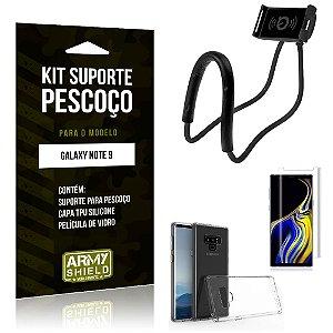 Kit Suporte Pescoço Samsung Galaxy Note 9 Suporte + Capa + Película de Vidro - Armyshield
