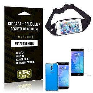 Kit Pochete Meizu M6 Note Pochete + Capa + Película de Vidro - Armyshield