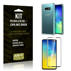 Kit Samsung Galaxy S10e Capa Anti Shock + Película de Gel - Armyshield