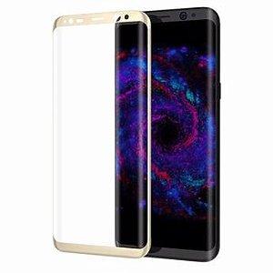 Película de Vidro Samsung Galaxy S8 Dourada