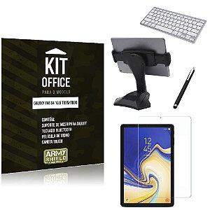 Kit Office Samsung Galaxy Tab S4 10.5' T835/T830 Suporte Mesa + Teclado Bluetooth + Película + Caneta - Armyshield