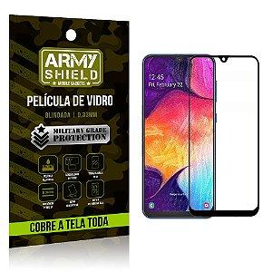 Película de Vidro 3D Cobre a Tela Toda Samsung Galaxy A10 Preta - Armyshield