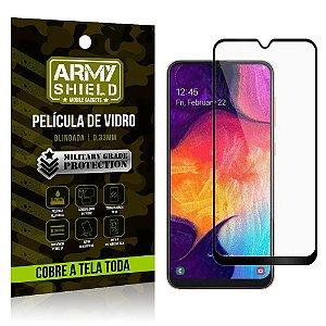Película de Vidro 3D Cobre a Tela Toda Samsung Galaxy A50 Preta - Armyshield