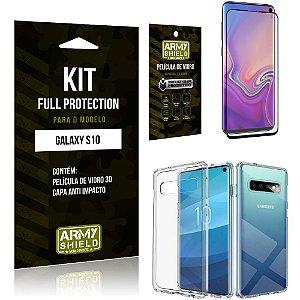 Kit Full Protection Samsung S10 Capa Anti Impacto + Película de Vidro 3D - Armyshield