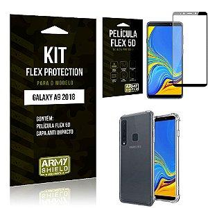 Kit Flex Protection Samsung A9 18 Capa Anti Impacto + Película Flex 5D - Armyshield