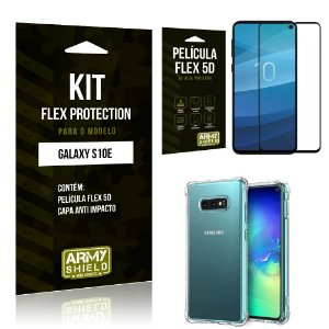 Kit Flex Protection Samsung S10e (LITE) Capa Anti Impacto + Película Flex 5D - Armyshield