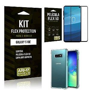Capinha Anti Impacto + Película Flex 5D Samsung S10e - Armyshield