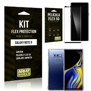 Kit Flex Protection Samsung Note 9 Capa Anti Impacto + Película Flex 5D - Armyshield