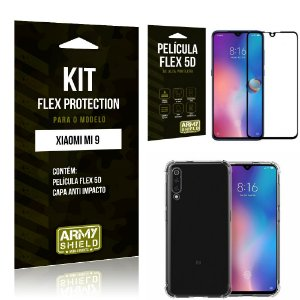 Kit Flex Protection Xiaomi MI 9 Capa Anti Impacto + Película Flex 5D - Armyshield