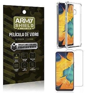 Kit Anti Impacto Galaxy A20 Capinha Anti Impacto + Película de Vidro - Armyshield