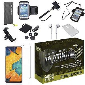 Kit Platinum Tipo C Galaxy A30 com 9 Acessórios - Armyshield