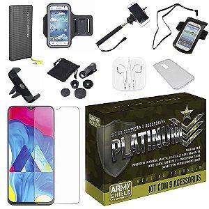 Kit Platinum Galaxy M10 com 9 Acessórios - Armyshield